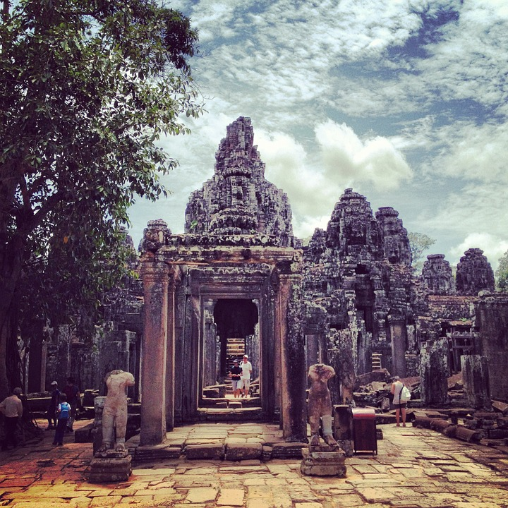 Siem Reap, Angkor Thom, Temple, Cambodia
