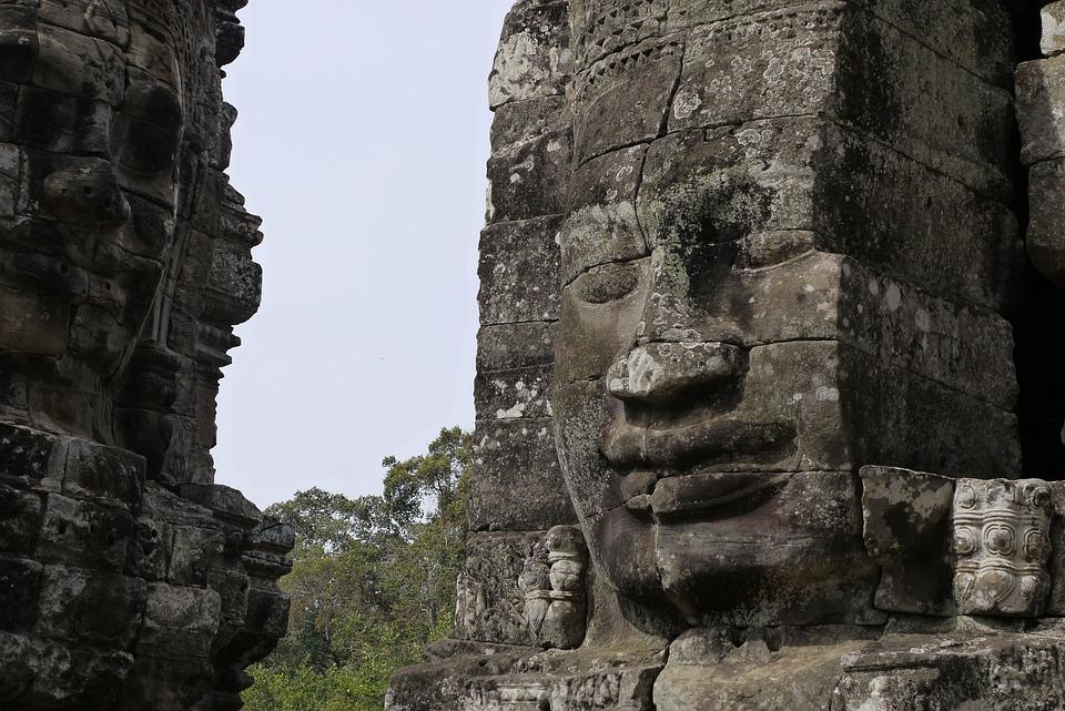 Cambodia, Siem Reap, Angkor Wat, Bayon, Bayon Temple