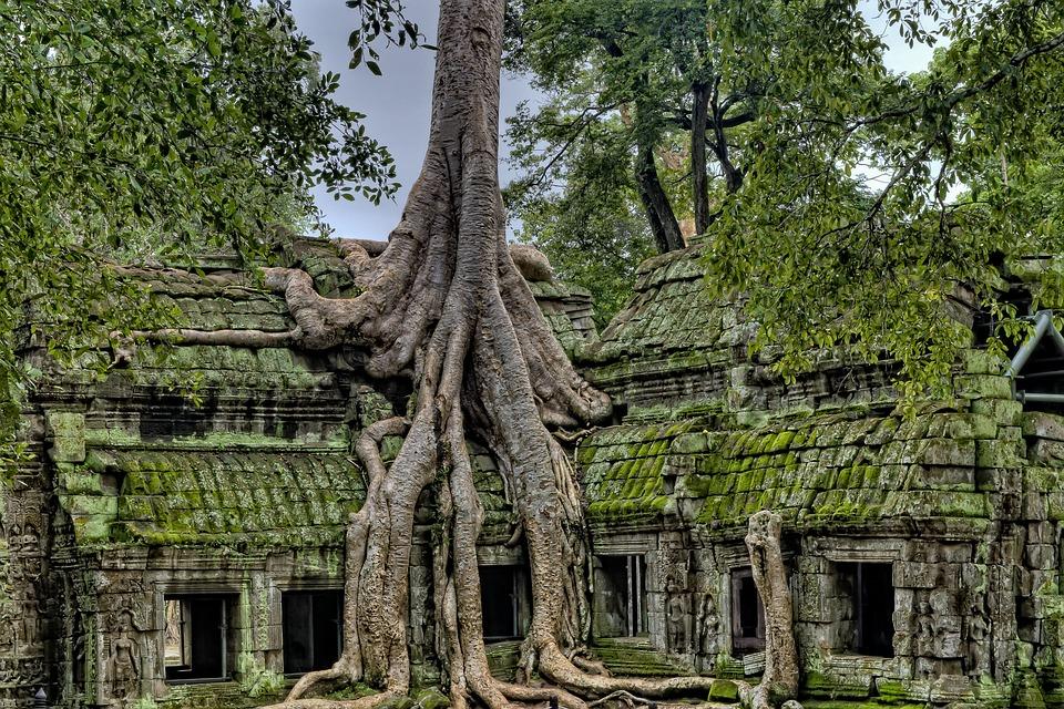 Ancient, Angkor, Angkor Wat Temples, Buddhism, Cambodia