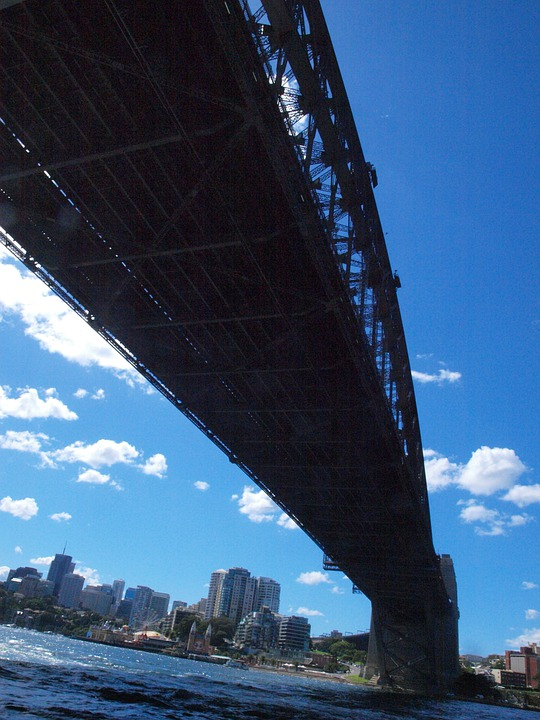 Sydney, Harbor, Bridge, Low, Angle, Architecture