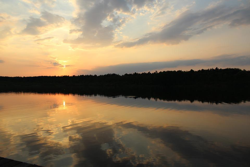 Anglers Club Lubowsee, Sunset Oberhavel, Evening Sky