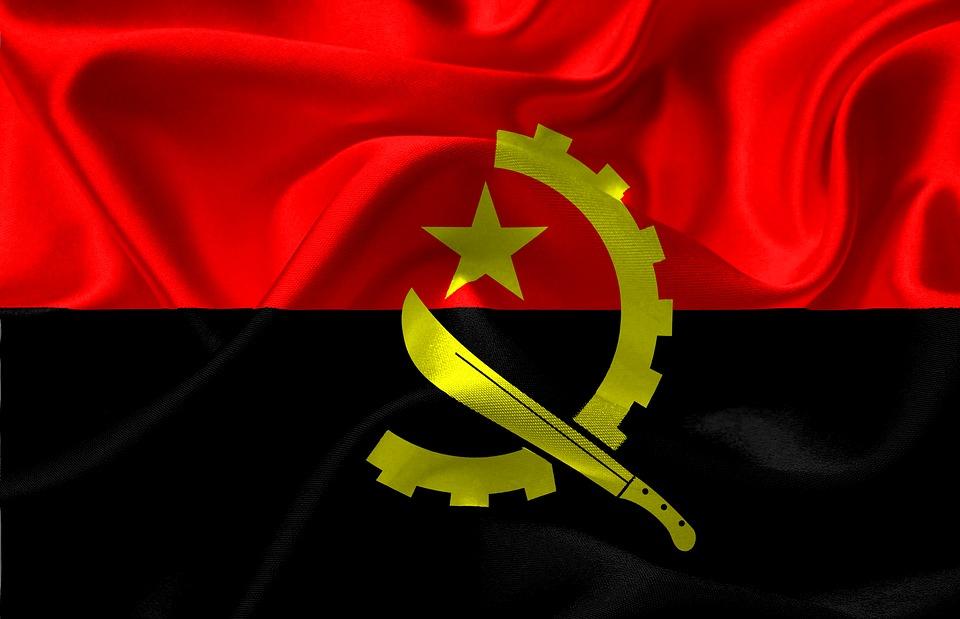 Flag, Angola, Angola Flag, Red, Black, Wallpaper