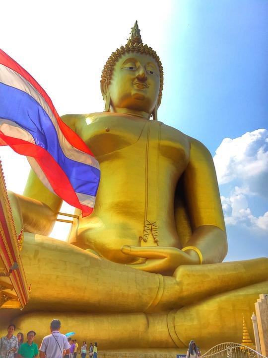 Temple, Angthong, Thailand, Buddha