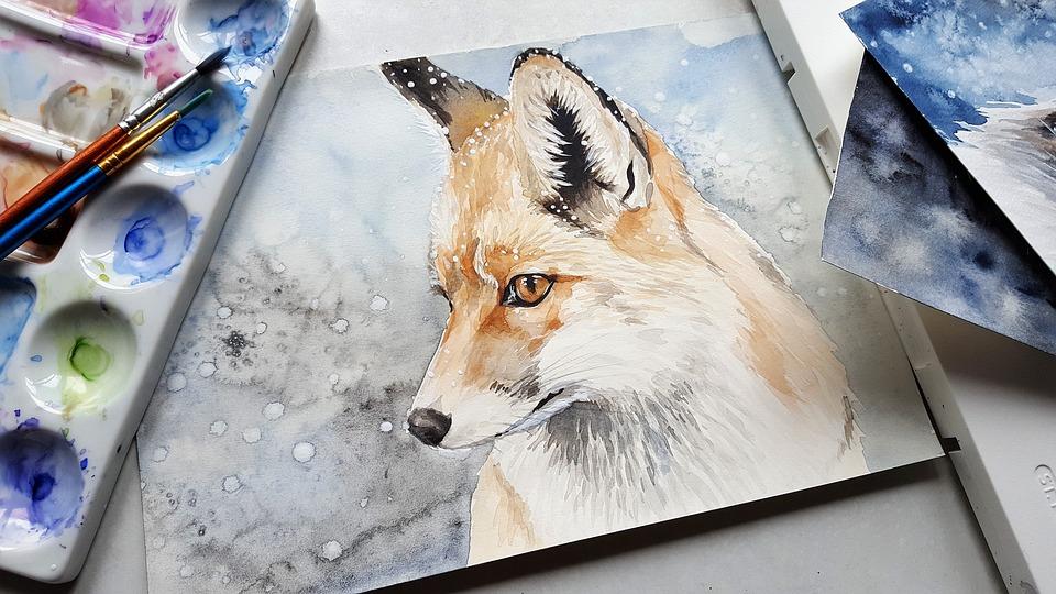 Animal, Fox, Nature, Painting, Art, Colors