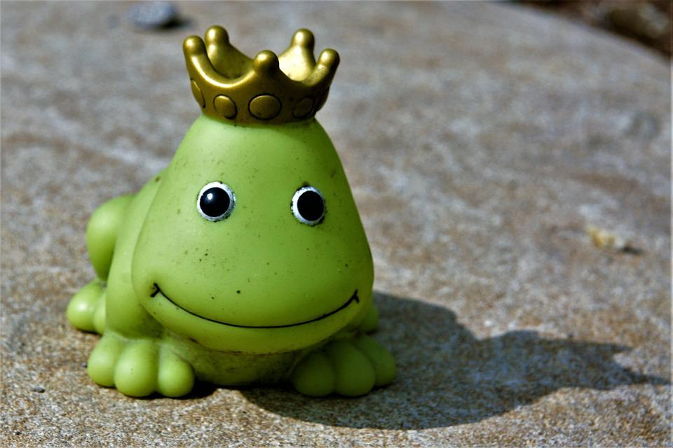 Frog, Green, Toys, Animal, Figure, Funny, Cute