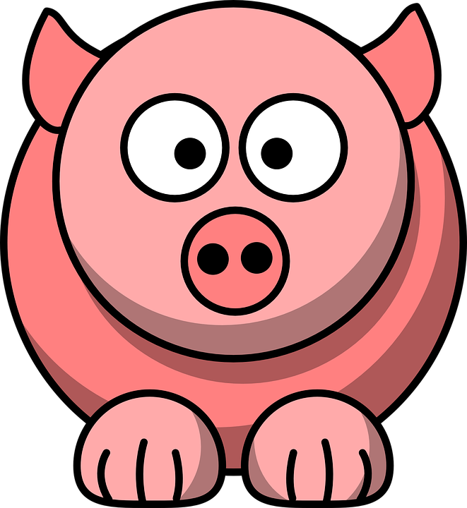 Animal, Pig, Pink, Cute, Face, Funny, Head, Mammal
