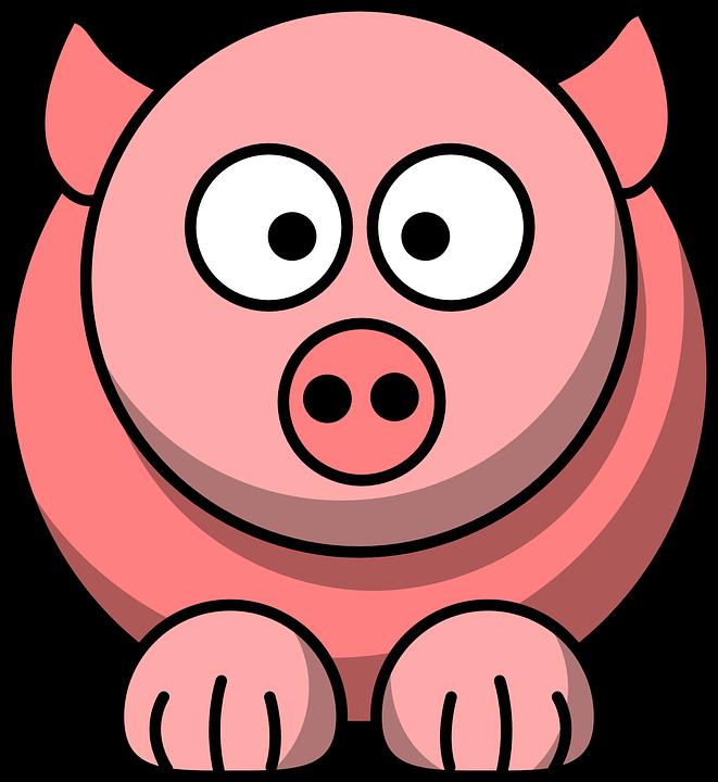 Animal, Pig, Pink, Cute, Face, Funny, Head, Mammal