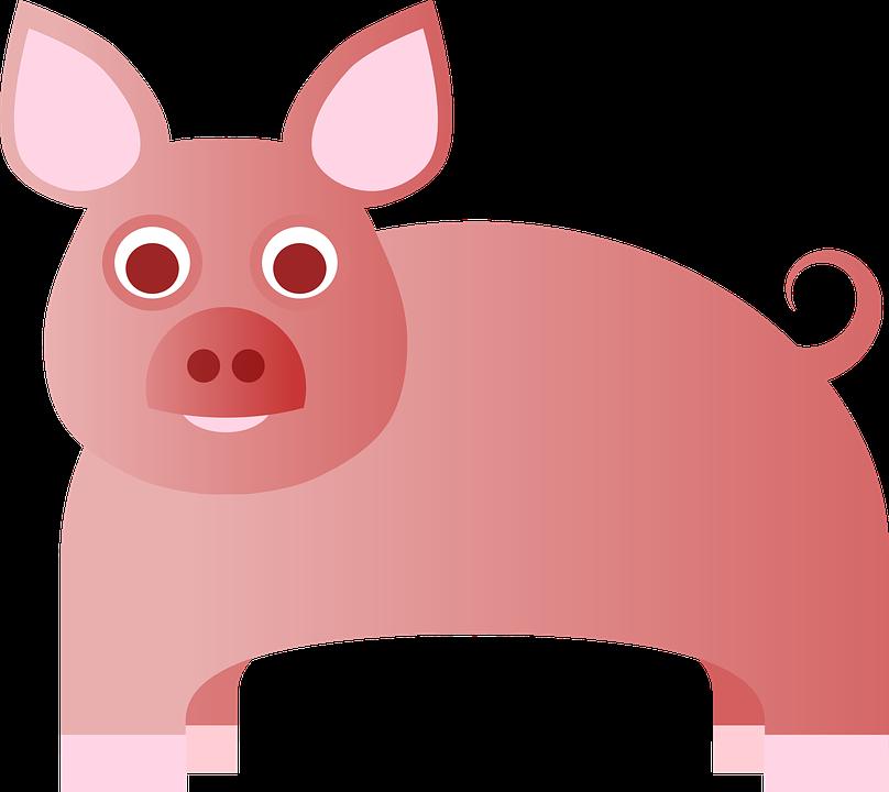 Babe, Farm, Pink, Pig, Bacon, Cute, Swing, Animal, Ears