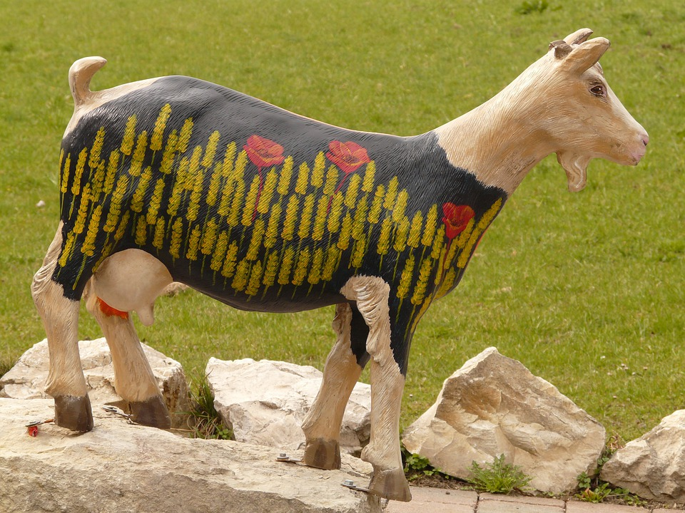 Goat, Geiss, Chamois, Animal, Baby Goat, Wood, Carving