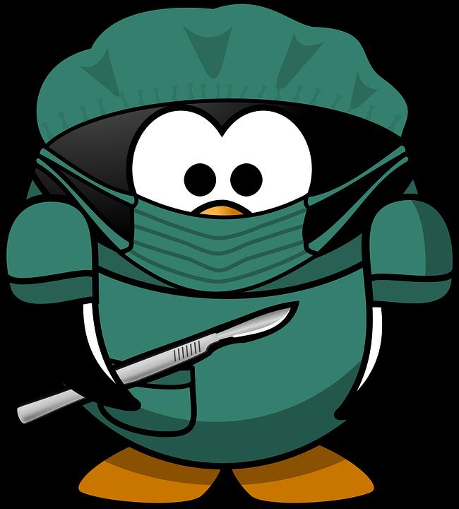 Doctor, Tux, Animal, Bird, Bonnet, Hospital, Mask