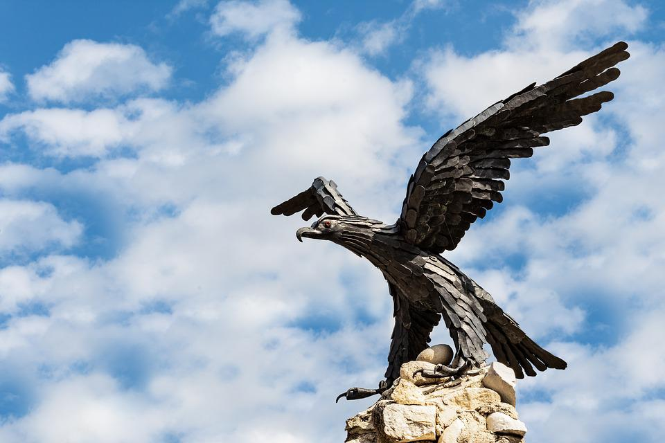 Aquila, Bird, Statue, Monument, Animal, Feather, Falco