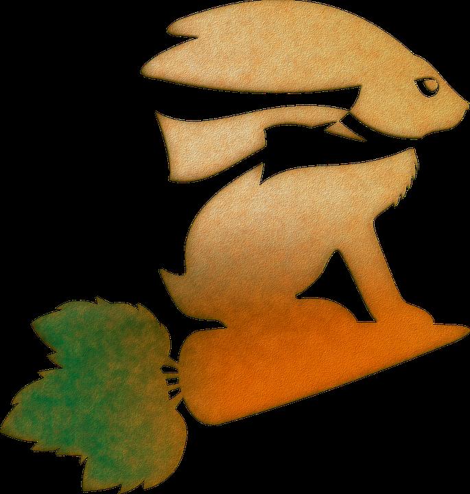 Rabbit, Hare, Animal, Silhouette, Vector, Nature, Pet