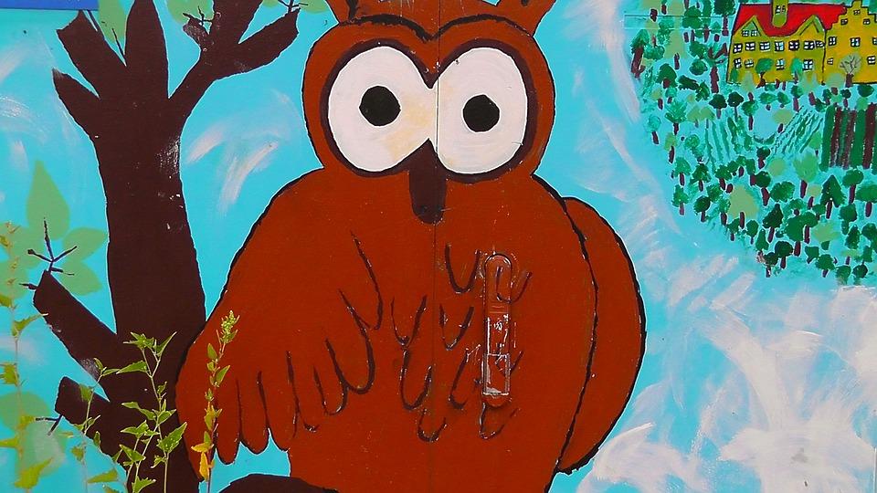Owl, Jauz, Eagle Owl, Art, Drawing, Painting, Animal