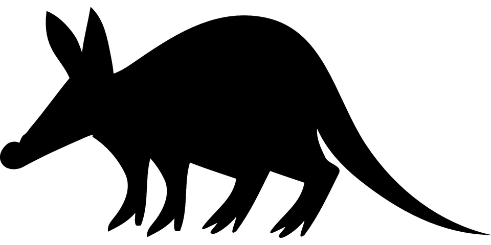 Aardvark, Stand, Watch, Silhouette, Black, Animal