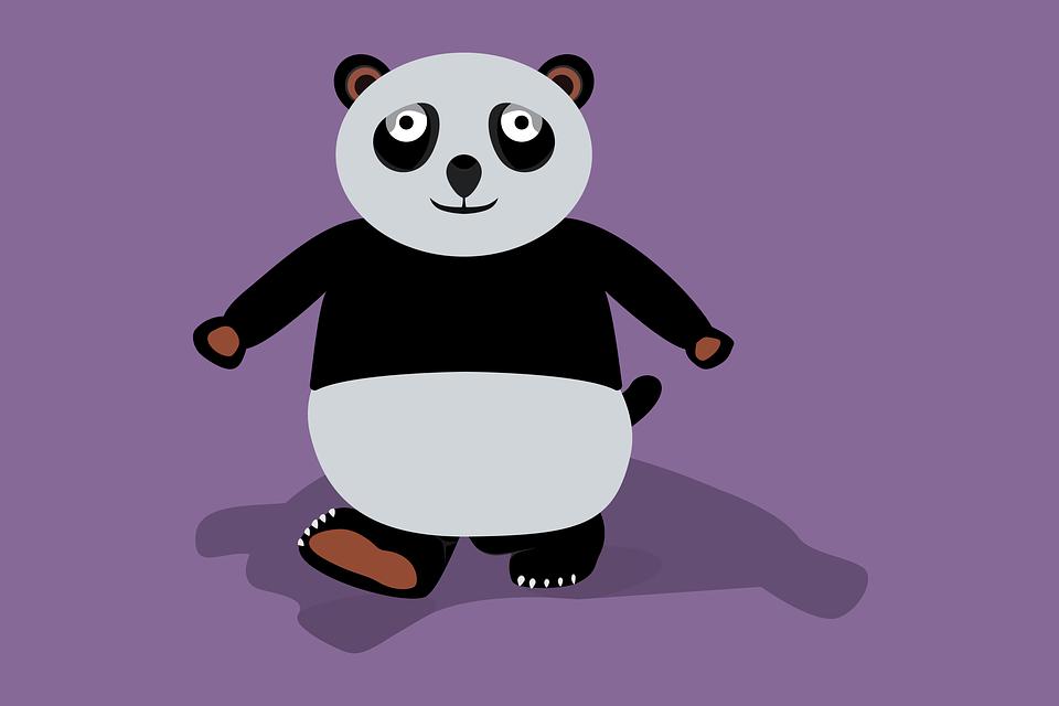 Cartoon, Animals, Panda