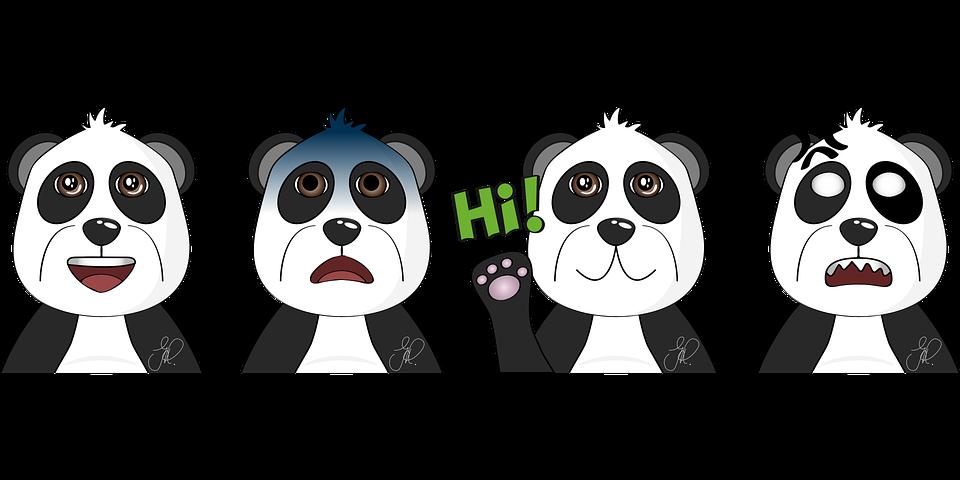 Panda, Animals, Comic, Bear, Cute, Creative