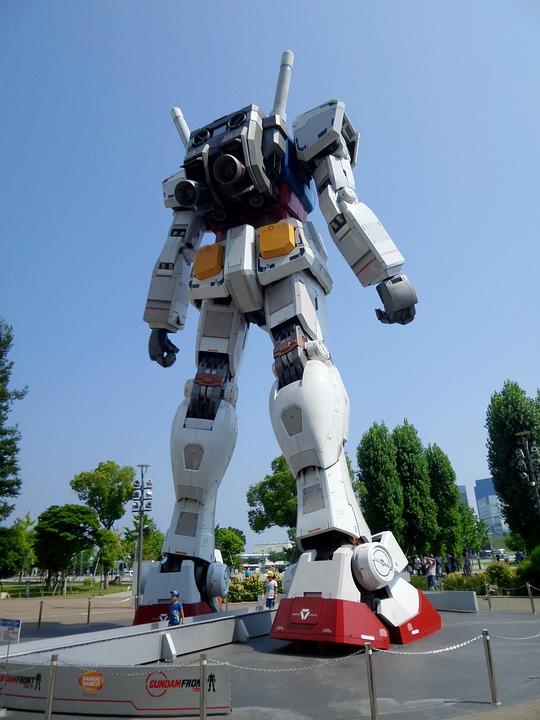 Gundam, Front, Daiba, Tokyo, Robot, Anime, Manga, Mecha