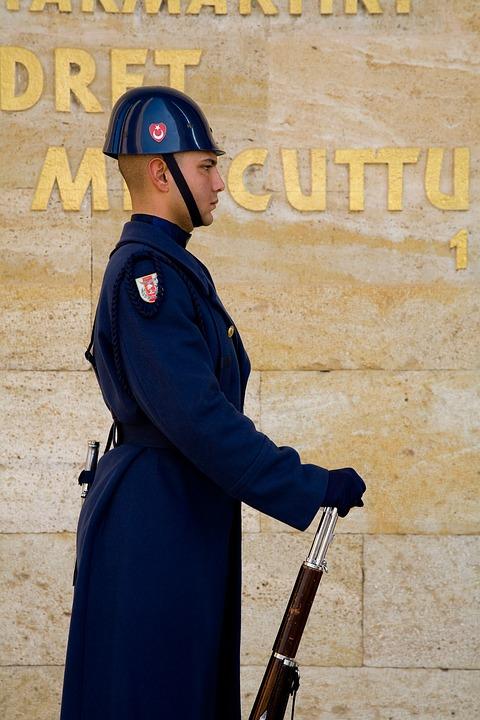 Soldier, Mausoleum, Atatürk, Ankara, Turkey, Seizure