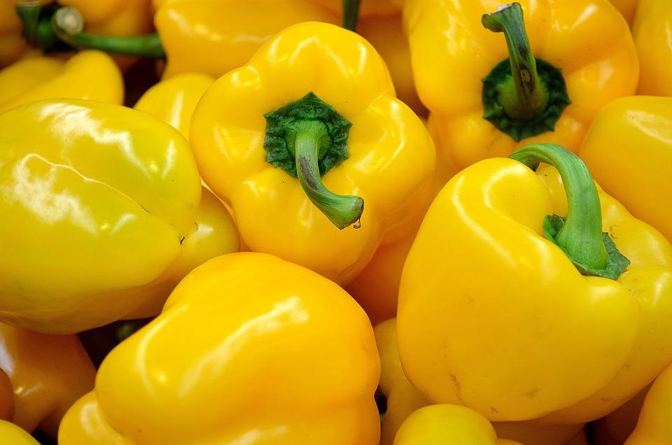Pepper, Yellow, Food, Vegetables, Vitamins, Annex