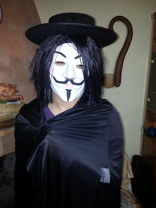 V, Anonymous, Anon, Revenge, Costume