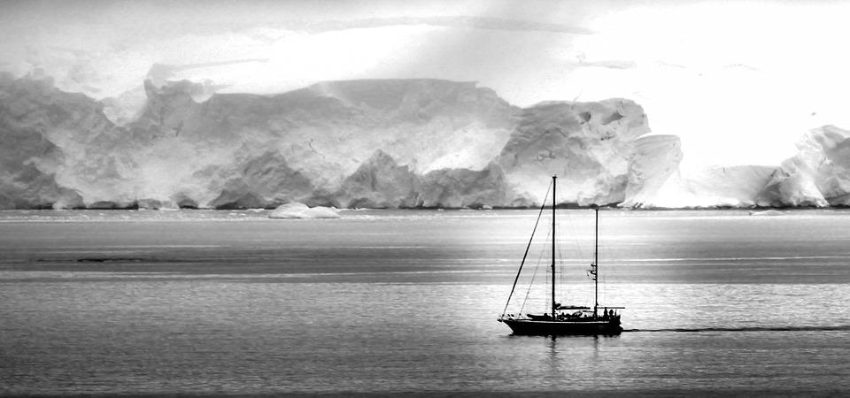 Antarctica, Boat, Ship, Ice, White, Water, Landscape