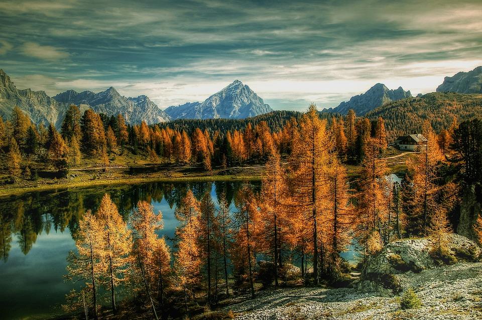 Antelao, Dolomites, Bergsee, Alm, Nature, Blue, Lake