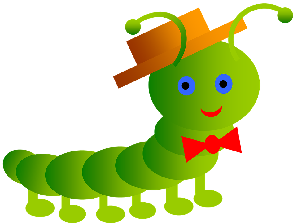 Inchworm, Smile, Worm, Papillon, Stricchetto, Antenna