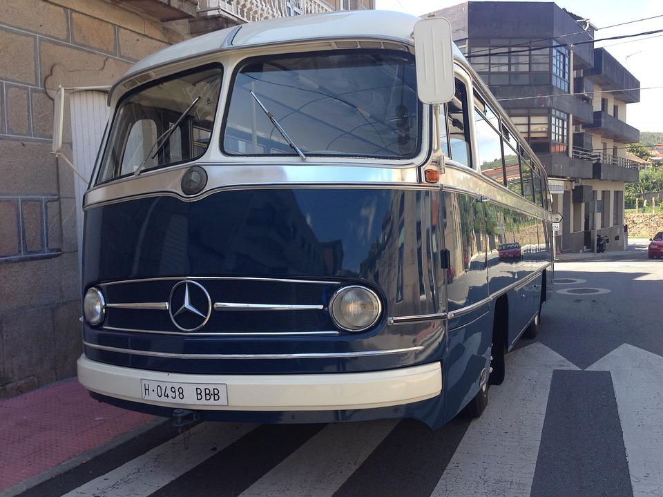 Bus, Antigüo, Mercedes, Classic