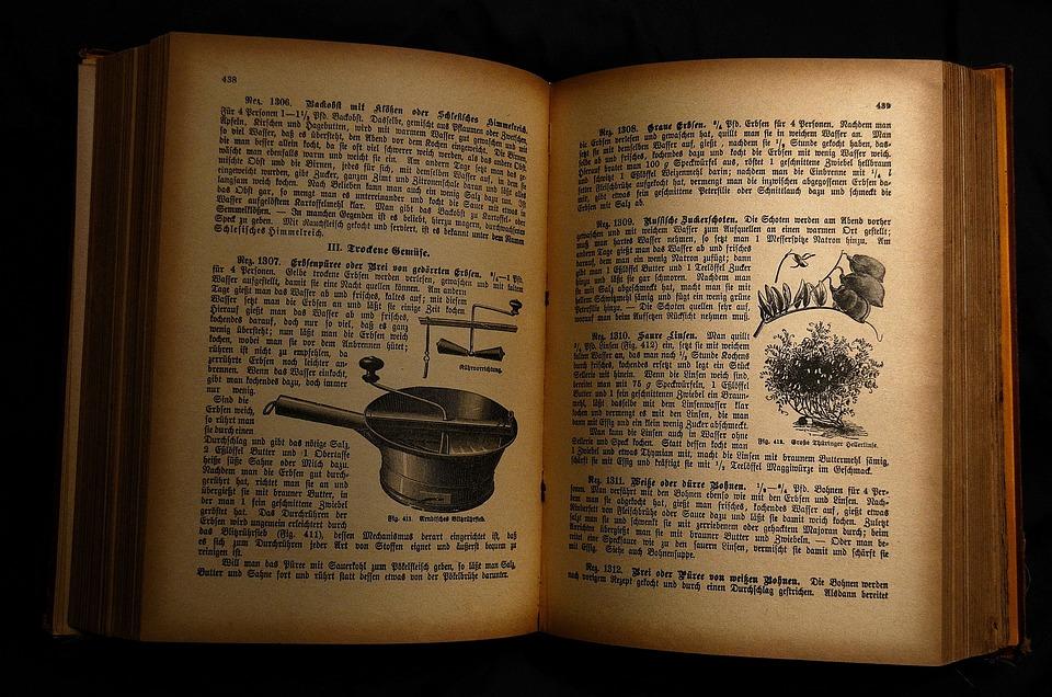 Antiquariat, Old Cookbook, Antiquarian Cookbook, Book