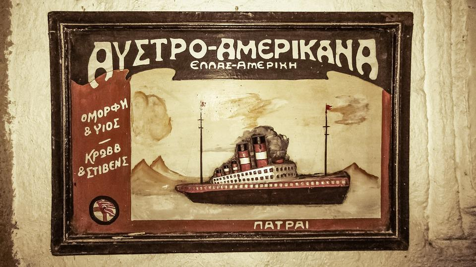 Advertisement, Old, Antique, Vintage, Shipping Agency