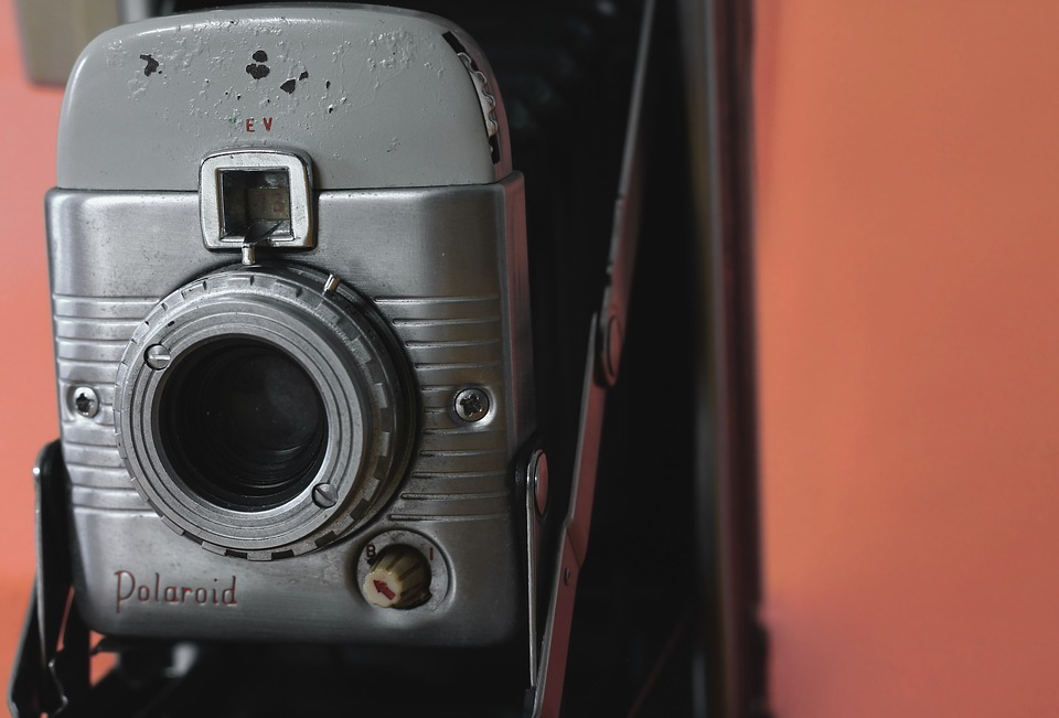 Polaroid Camera, Camera, Photography, Retro, Antique