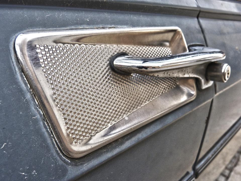 Antique Car, Hand, Door, Detail