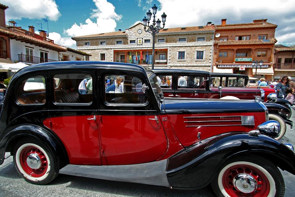 Spain, Antique Car, Vehicle, Old, Vintage