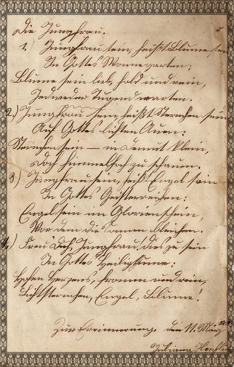 Old Script, Old Paper, Handwriting, German, Antique