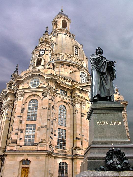 Dresden, Frauenkirche, Martin Luther, Building, Antique