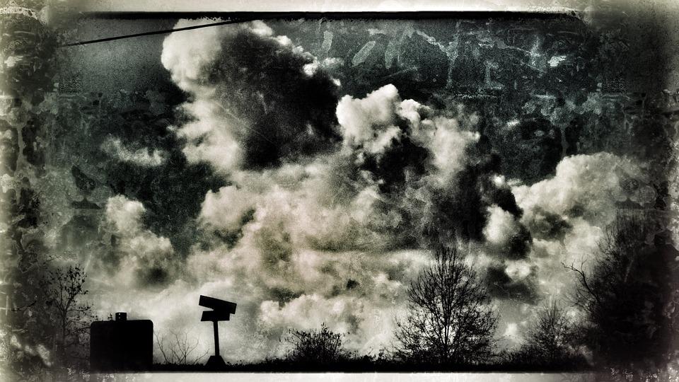 Outdoors, Sky, Mississippi, Postcard, Antique