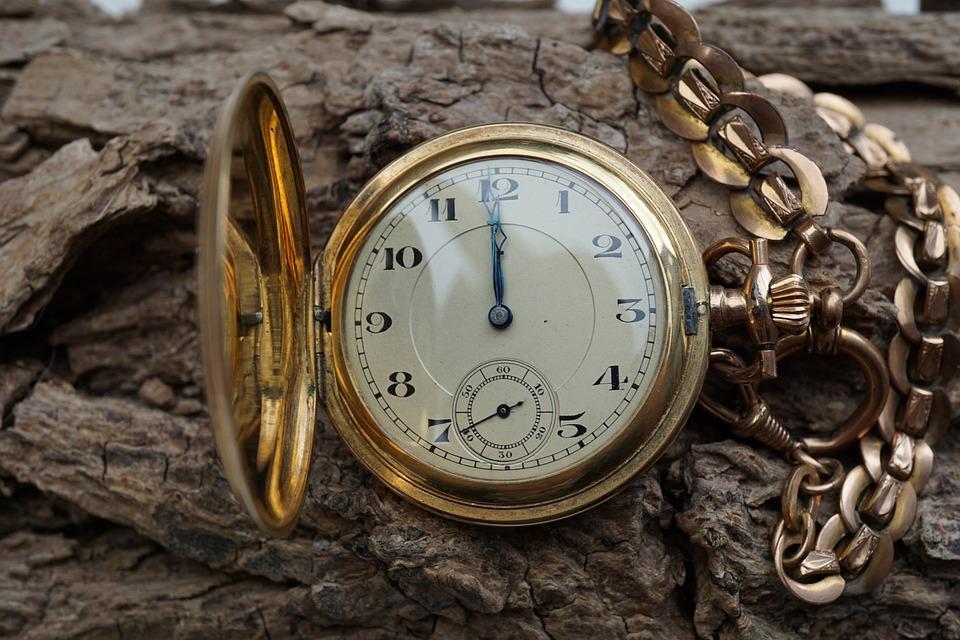 Antique, Old, Clock, Golden, Timepiece, Ancient