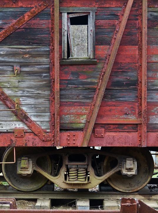 Railroad, Rail, Train, Tracks, Antique, Old, Vintage