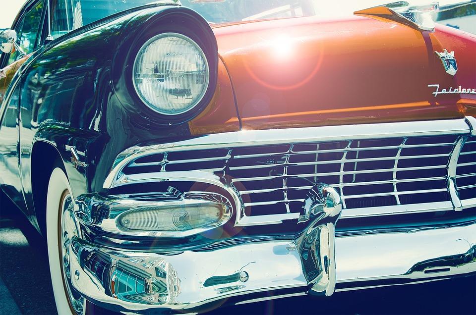 Car, Antique, 50s, 60s, Old, Retro, Vintage, Vehicle