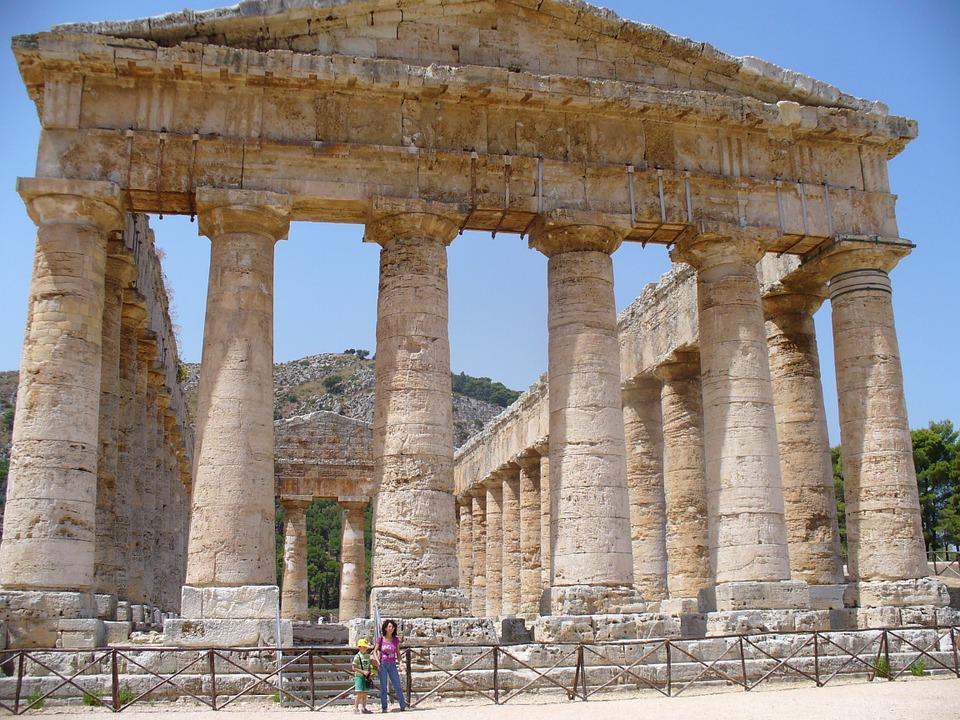 Architecture, Antique, Temple, Segesta, Sicily