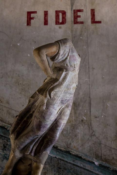 Statue, Cuba, History, Fidel, Broken, Woman, Antique