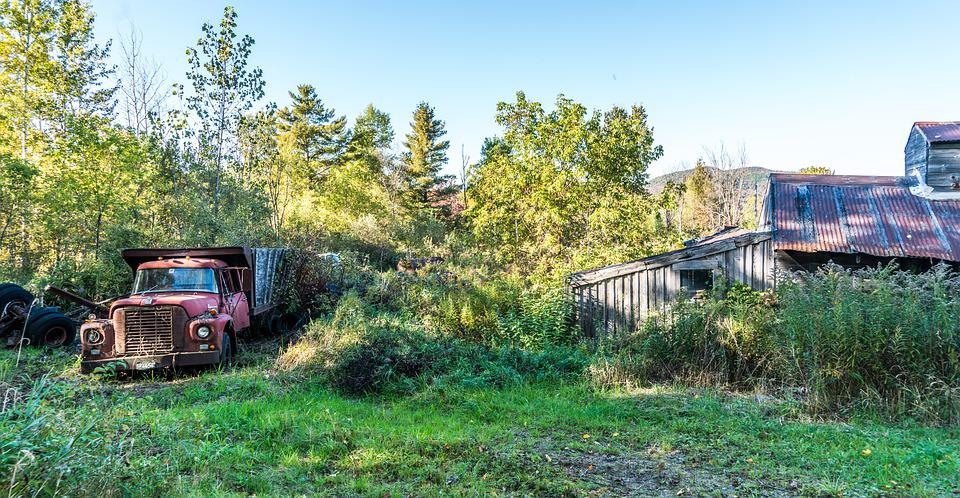 Sugar Shack, Antique Truck, Rural, Countryside