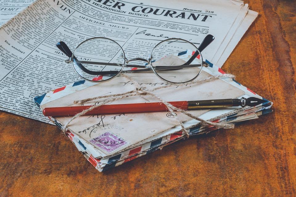 Old, Glasses, Vintage, Retro, Antique, Paper