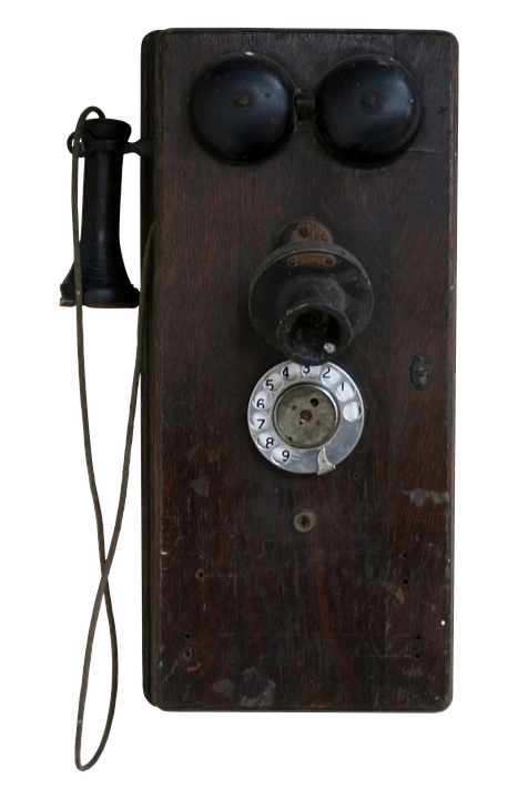 Phone, Antique, Old, Wood, Wall, Communication, Dial
