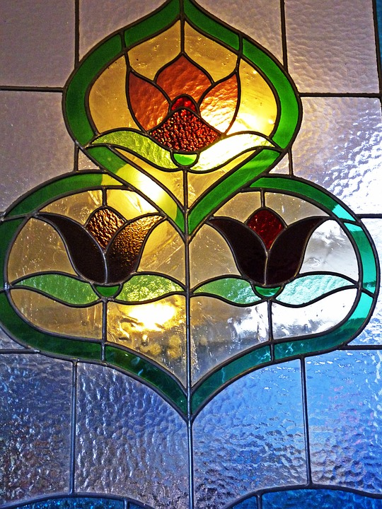 Stained Glass, Antique, Window, Decorative