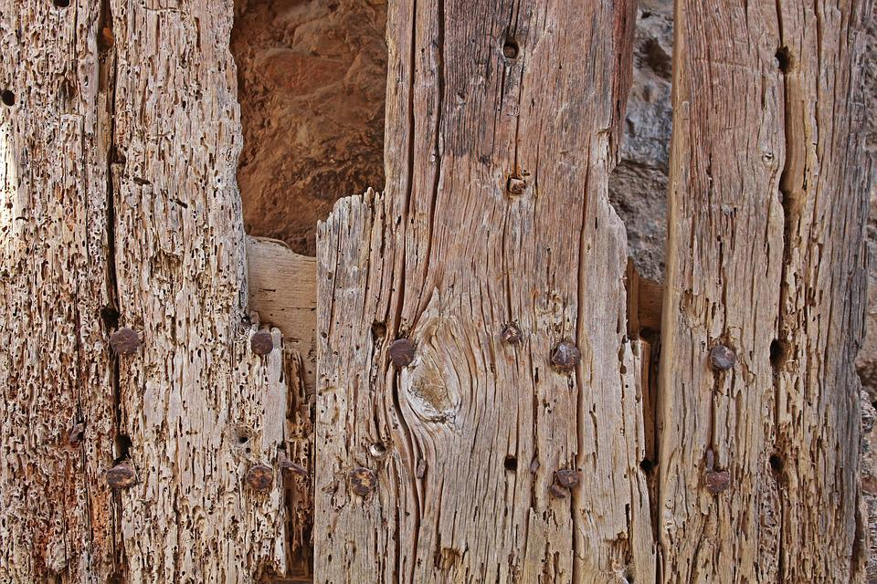 Old Wood, Antique Wood, Background, Wood Worm, Gate