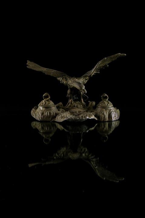 Aquila, Iron, Desk, Ink, Antiques, Studio
