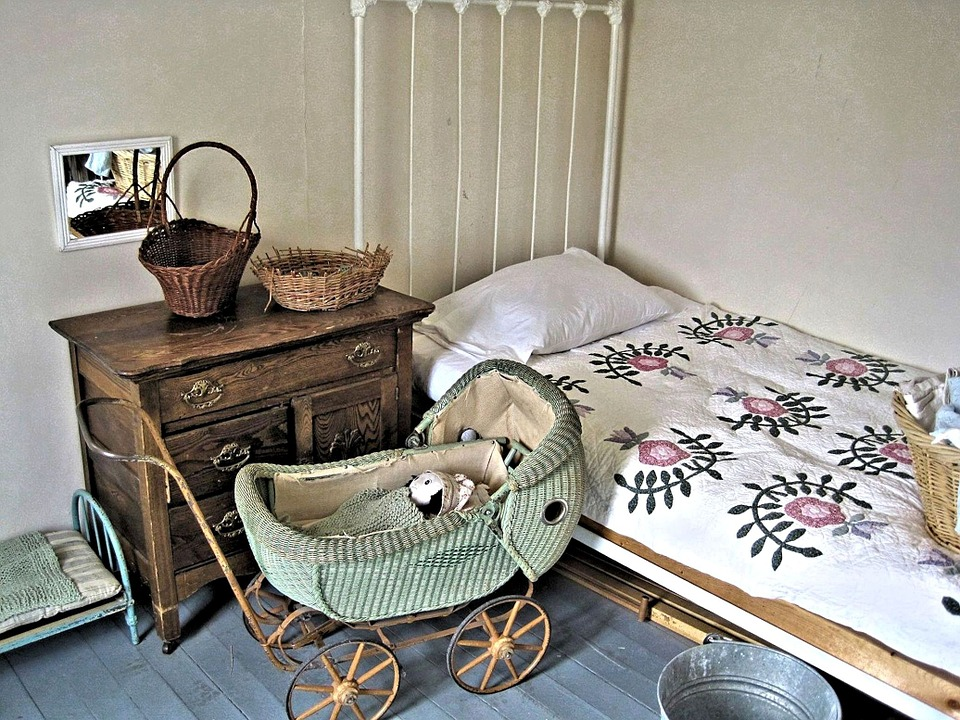 Child's Room, Girl, Historic, Museum, Room, Antiques