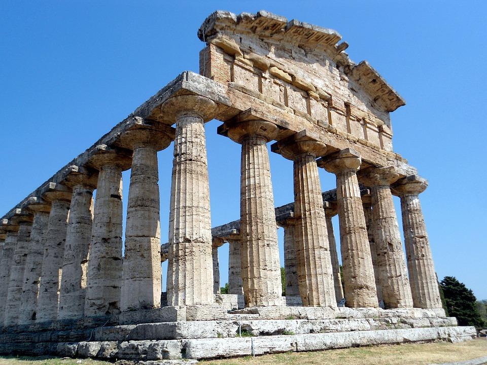 Paestum, Italy, Antiquity, Temple, Architecture