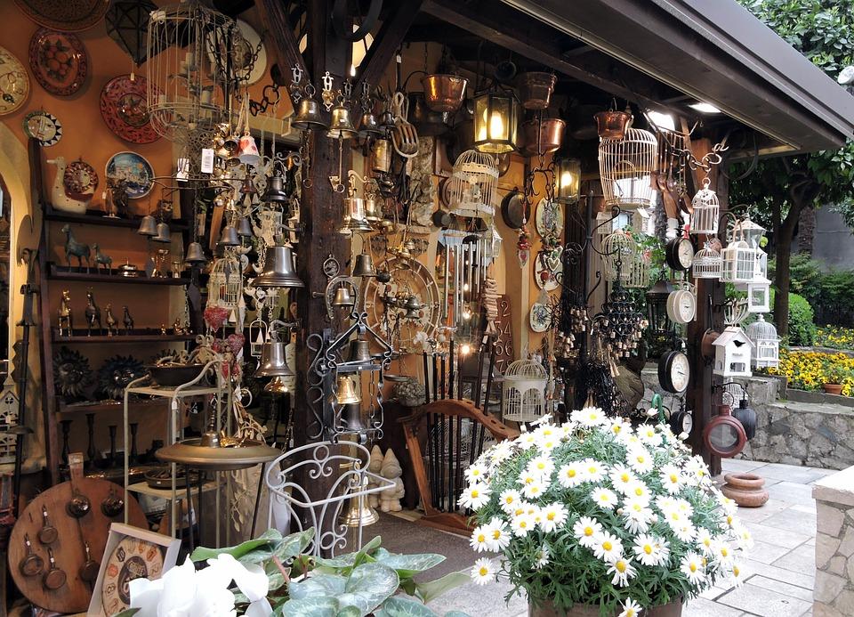 Shop, Antiquity, Items, Flowers, Exposure